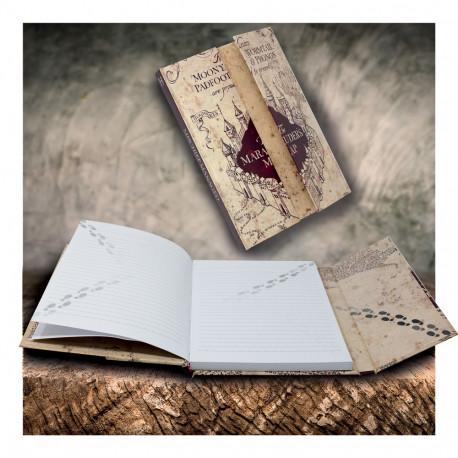 Carnet de Notes Harry Potter Magnétique Carte du Maraudeur