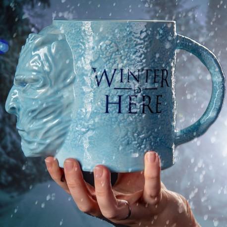Maxi Mug 3D Game of Thrones Marcheur Blanc 1L