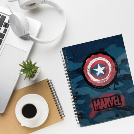 Carnet Spirales A5 Captain America Marvel