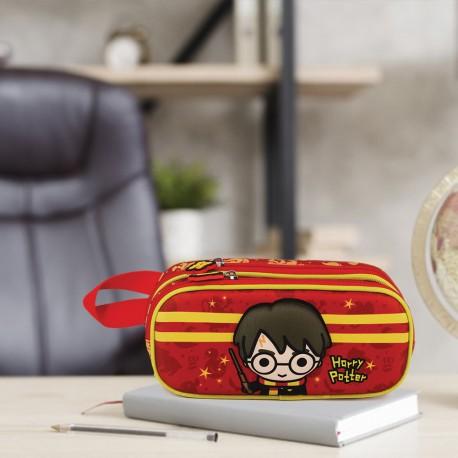 Trousse Double Harry Potter Chibi Baguette