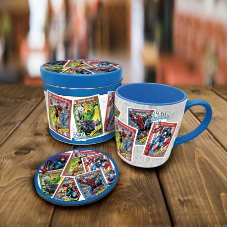 Boîte Cadeau Super-Héros Marvel avec Mug et Sous-Verre