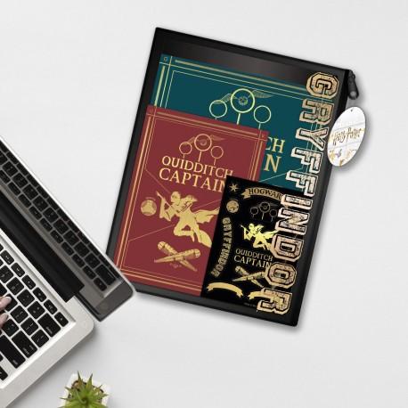 Pack Harry Potter Captain Quidditch - Carnet A4 Feuilles à Trous, Carnet A5 et Stickers