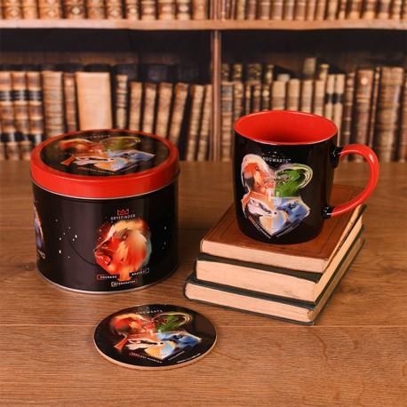 Boîte Cadeau Harry Potter Maisons Poudlard avec Mug et Sous-Verre