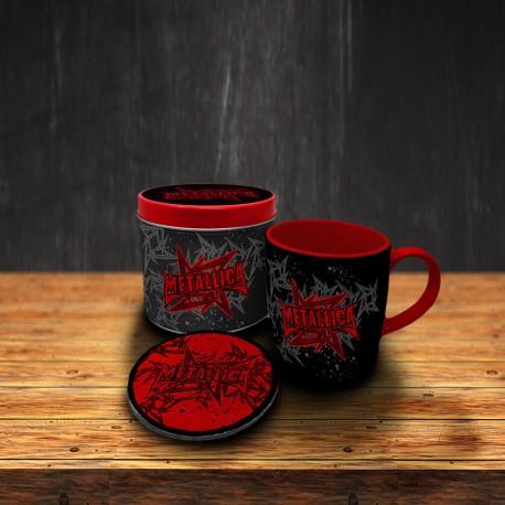Boîte Cadeau Metallica avec Mug et Sous-Verre