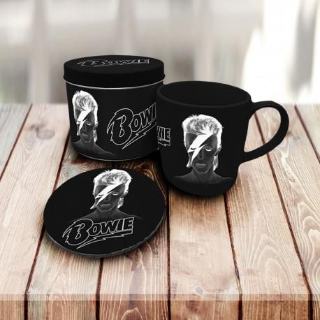 Boîte Cadeau David Bowie avec Mug et Sous-Verre