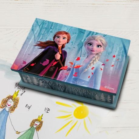 Boîte à Bijoux La Reine des Neiges 2 en Bois