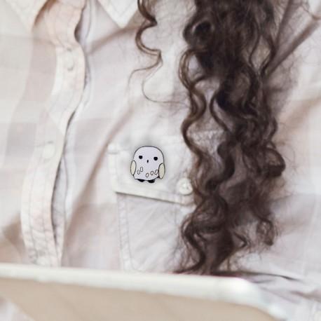 Badge Hedwige Chibi Harry Potter