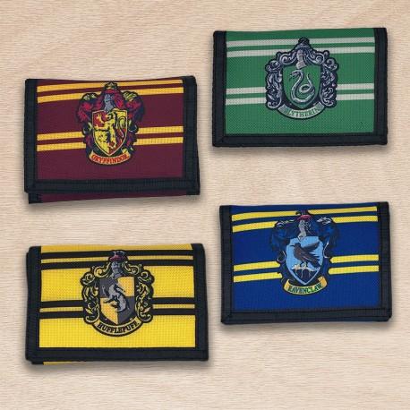 Portefeuille Harry Potter Nylon Maisons Poudlard
