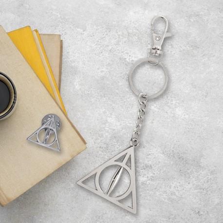Pack Harry Potter Les Reliques de la Mort - Porte-Clés et Badge