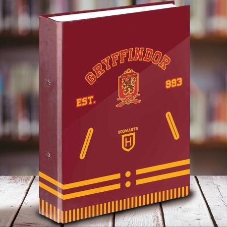 Classeur A4 Harry Potter Gryffondor School à 4 Anneaux