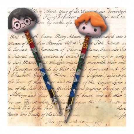 Set 2 Crayons Harry Potter Chibi avec Gommes