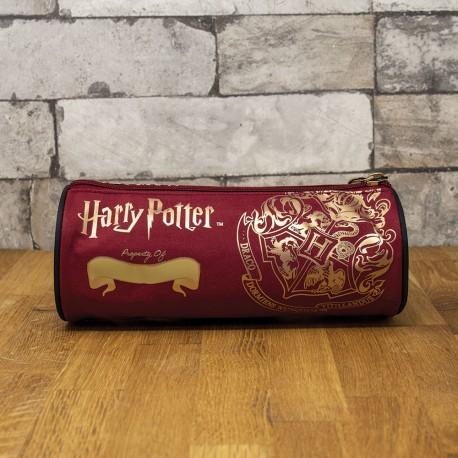 Trousse Harry Potter Poudlard Rouge Grenat et Dorée à Personnaliser