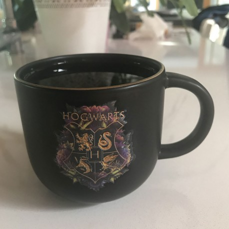 Tasse Thermoréactive Harry Potter Poudlard Deluxe Noire et Dorée