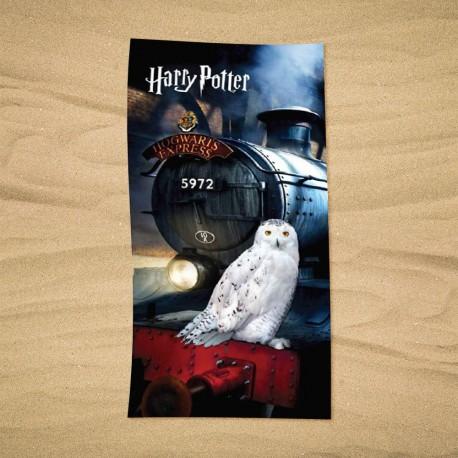 Serviette de Plage Harry Potter Hedwige / Poudlard Express