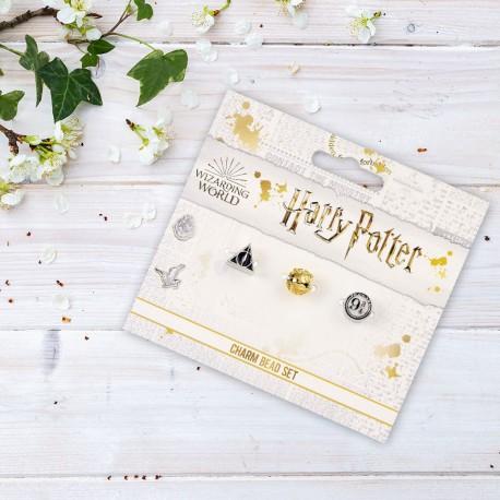 Pendentifs Charm Harry Potter - Reliques de la Mort, Quai 9 3/4 et Vif d'Or